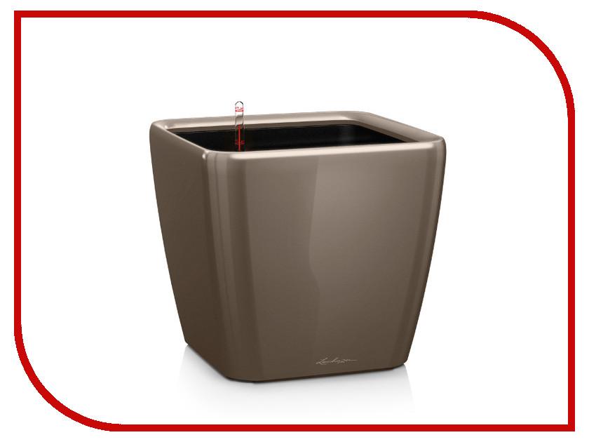 Кашпо Lechuza Квадро LS 21 с системой полива Grey-Brown 16125