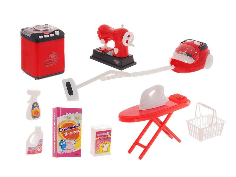 Набор для стирки, уборки и шитья ABtoys Помогаю маме PT-00662 набор продуктов в корзине abtoys помогаю маме pt 00335