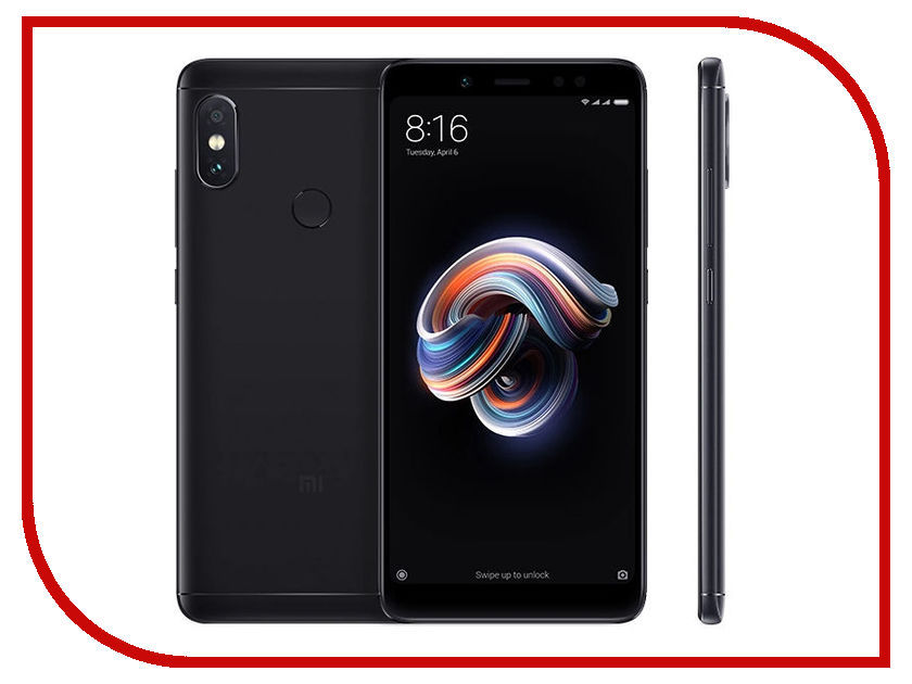 Сотовый телефон Xiaomi Redmi Note 5 3/32GB Black сотовый телефон xiaomi redmi 5 plus 3gb ram 32gb black