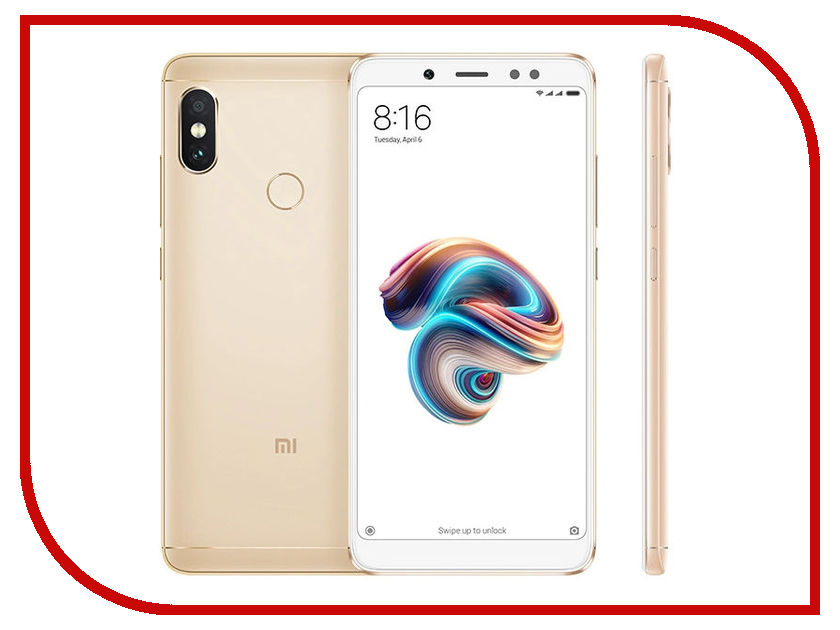 Сотовый телефон Xiaomi Redmi Note 5 4/64GB Gold xiaomi redmi note 4 5 5 inch 4g 64gb smartphone blue