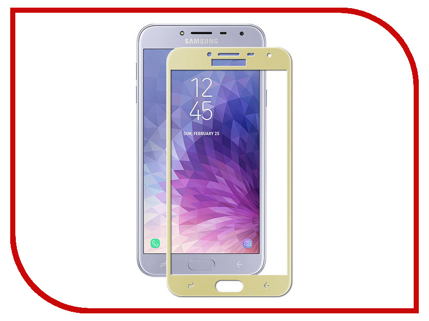 Аксессуар Защитное стекло для Samsung Galaxy J4 2018 Red Line Full Screen Tempered Glass Gold УТ000015340