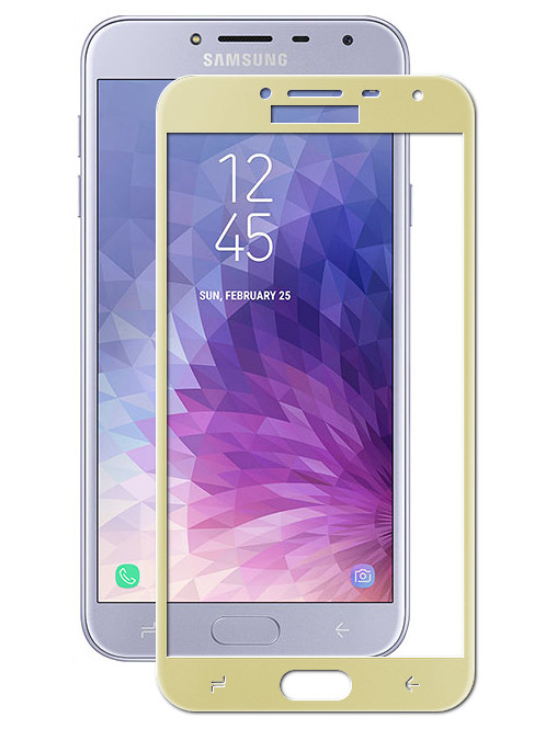 Аксессуар Защитное стекло Red Line для Samsung Galaxy J4 2018 Full Screen Tempered Glass Gold УТ000015340
