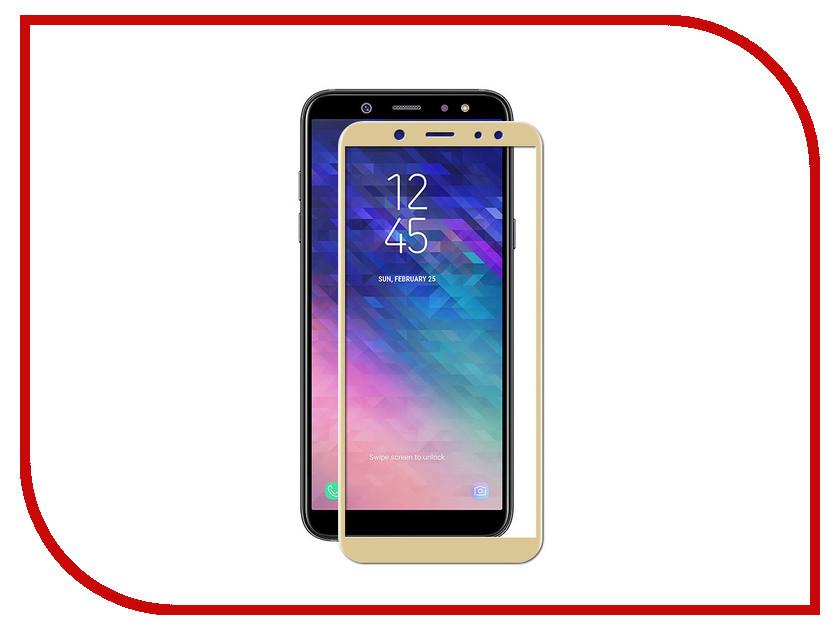 Аксессуар Защитное стекло Samsung Galaxy A6 Plus 2018 Red Line Full Screen Gold аксессуар защитное стекло red line full screen tempered glass matte для apple iphone 7 plus 5 5 gold
