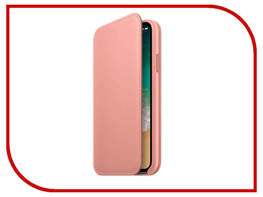 Фото - Аксессуар Чехол APPLE iPhone X Leather Folio Soft Pink MRGF2ZM/A аксессуар чехол apple iphone x krutoff leather folio pink 10834