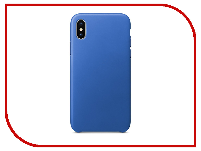 Аксессуар Чехол APPLE iPhone X Leather Case Electric Blue MRGG2ZM/A