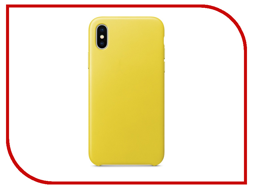 Аксессуар Чехол APPLE iPhone X Leather Case Spring Yellow MRGJ2ZM/A rc transmitter bag radio controller remote case for futaba flysky wfly radiolink at9 at10 t6 th9x 33cm x 23cm x 12cm