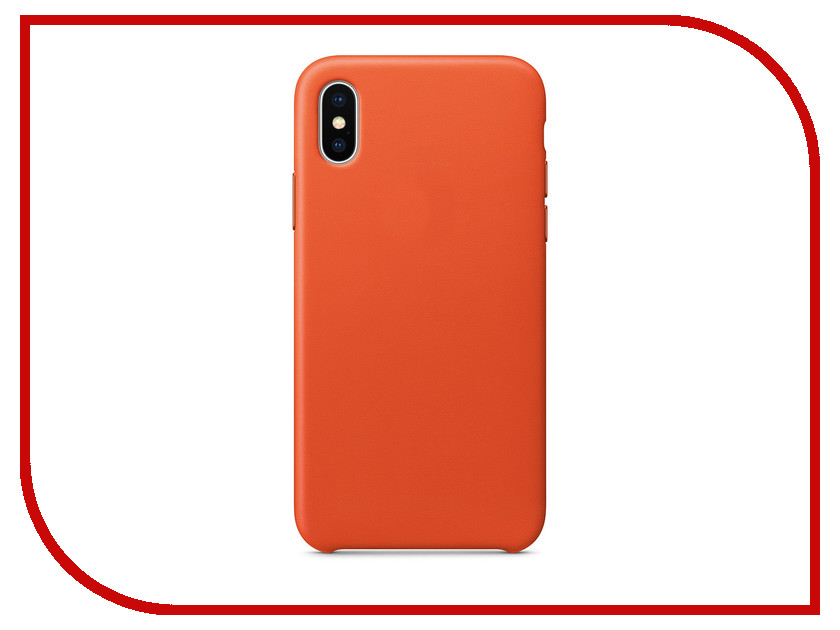 Аксессуар Чехол APPLE iPhone X Leather Case Bright Orange MRGK2ZM/A fashion 360 rotating case for ipad pro 12 9 inch litchi leather stand back cover apple fundas