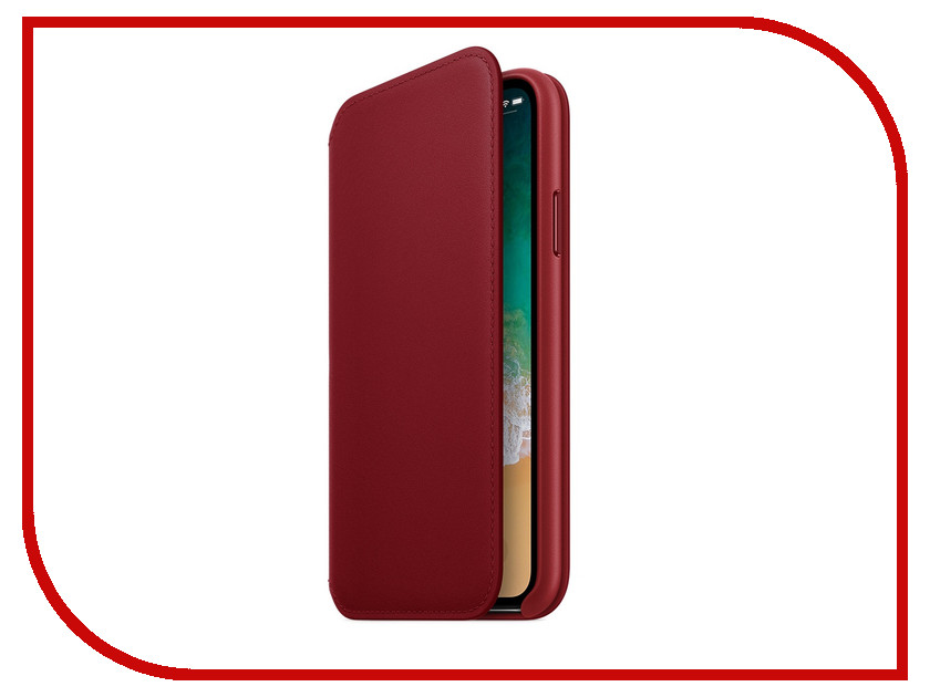 Фото - Аксессуар Чехол APPLE iPhone X Leather Folio Product Red MRQD2ZM/A аксессуар чехол apple iphone x krutoff leather folio pink 10834