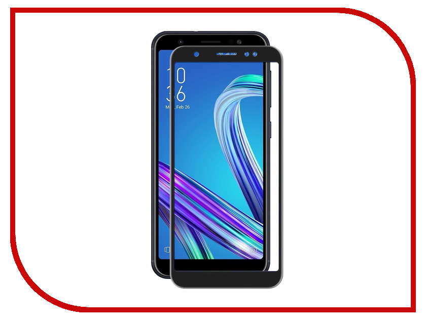Аксессуар Защитное стекло для ASUS ZenFone M1 Max 5.5 ZB555KL Red Line Full Screen Tempered Glass Black УТ000014358 with frame 15 6 for asus q551l q502l laptop touch screen glass replacement digitizer fp tpay15611a 01x