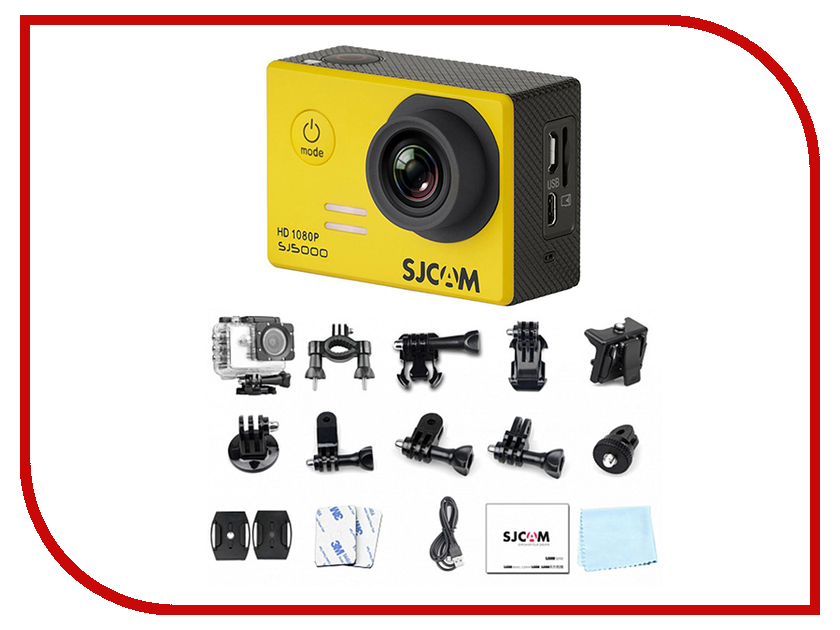Экшн-камера SJCAM SJ5000 Yellow экшн камера sjcam m20