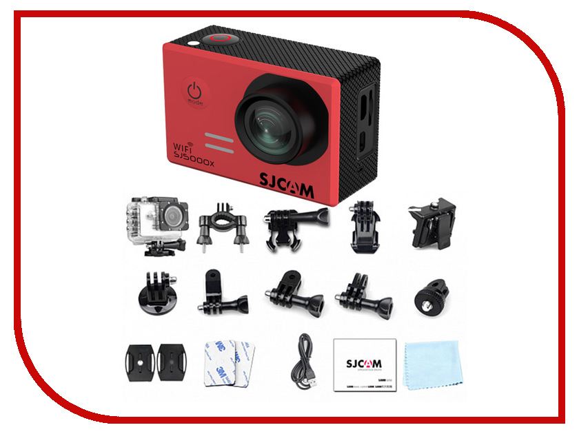Экшн-камера SJCAM SJ5000x Elite Red 2 0 4k sjcam sj5000 series sj5000x elite wifi ntk96660 mini gyro 30 waterproof sports action camera sj cam dvr many accessories
