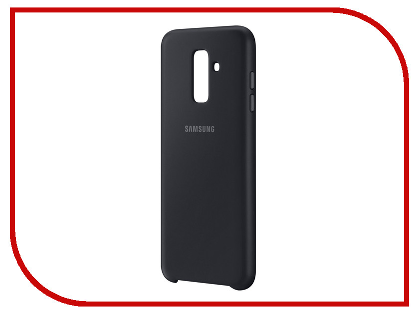Аксессуар Чехол Samsung Galaxy A6+ 2018 Dual Layer Cover Black EF-PA605CBEGRU cover co52 06