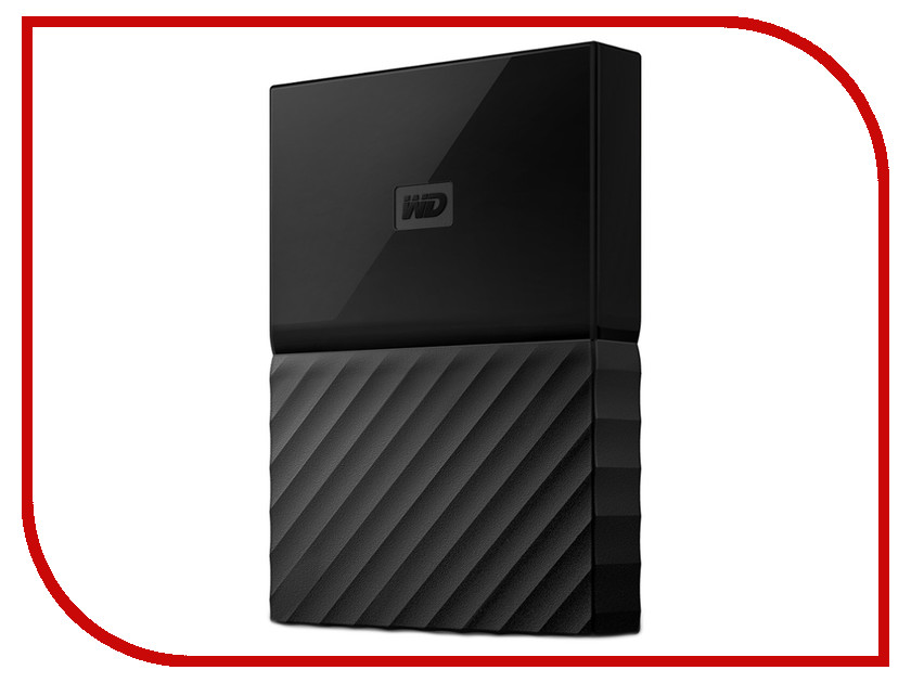 Жесткий диск Western Digital My Passport 2Tb Black WDBLHR0020BBK-EEUE внешний жесткий диск western digital 2tb my passport white wdbuax0020bwt eeue