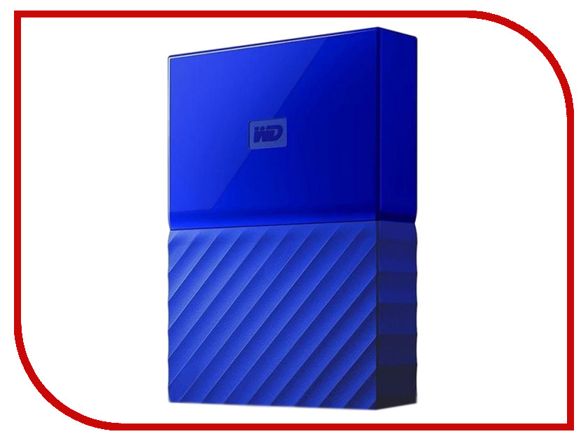 Жесткий диск Western Digital My Passport 2Tb Blue WDBLHR0020BBL-EEUE внешний жесткий диск western digital 2tb my passport white wdbuax0020bwt eeue