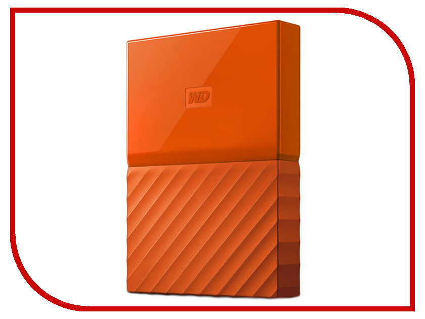 Жесткий диск Western Digital My Passport 2Tb Orange WDBLHR0020BOR-EEUE внешний жесткий диск western digital 2tb my passport white wdbuax0020bwt eeue