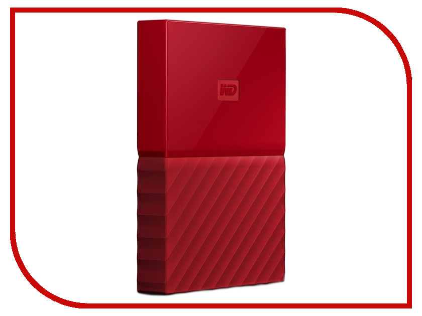 Жесткий диск Western Digital My Passport 2Tb Red WDBLHR0020BRD-EEUE внешний жесткий диск western digital 2tb my passport white wdbuax0020bwt eeue