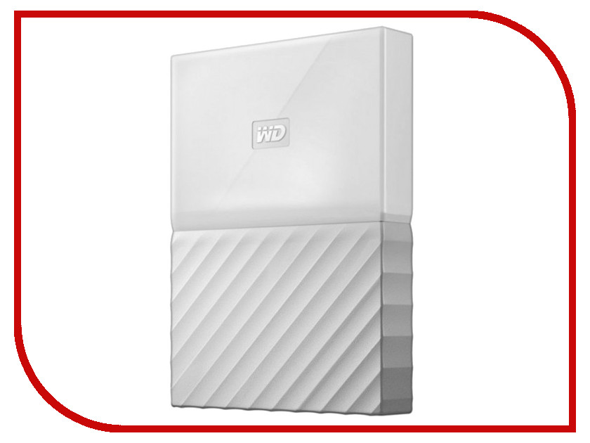 Жесткий диск Western Digital My Passport 2Tb White WDBLHR0020BWT-EEUE внешний жесткий диск western digital 2tb my passport white wdbuax0020bwt eeue