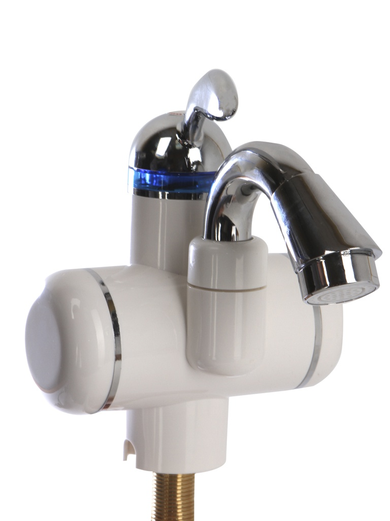Кран мгновенного нагрева воды AquaTherm BEF-001C White кран водонагреватель проточного типа unipump bef 003 178