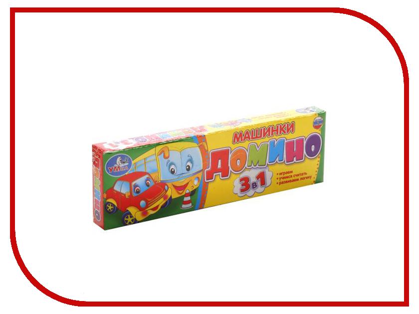 Настольная игра Умка Домино Машинки 3в1 4690590112137