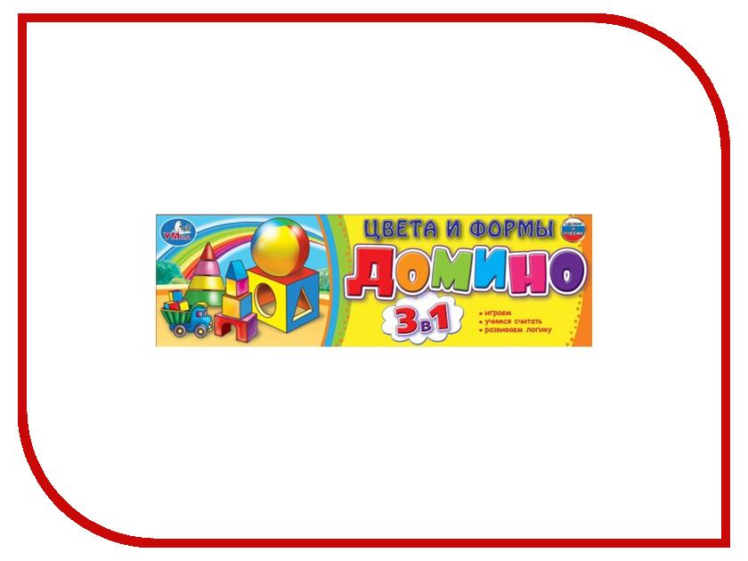 Настольная игра Умка Домино Цвета и формы 3в1 4690590124963