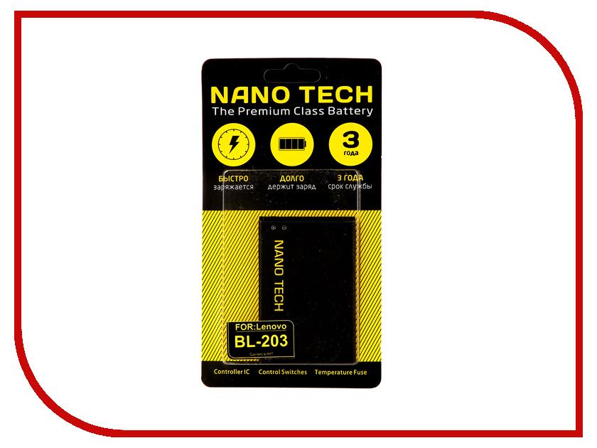 Аккумулятор Nano Tech (Аналог BL 203) 1500mAh для Lenovo A308t/A308/A369i/A208/A269/A300/A316/A318
