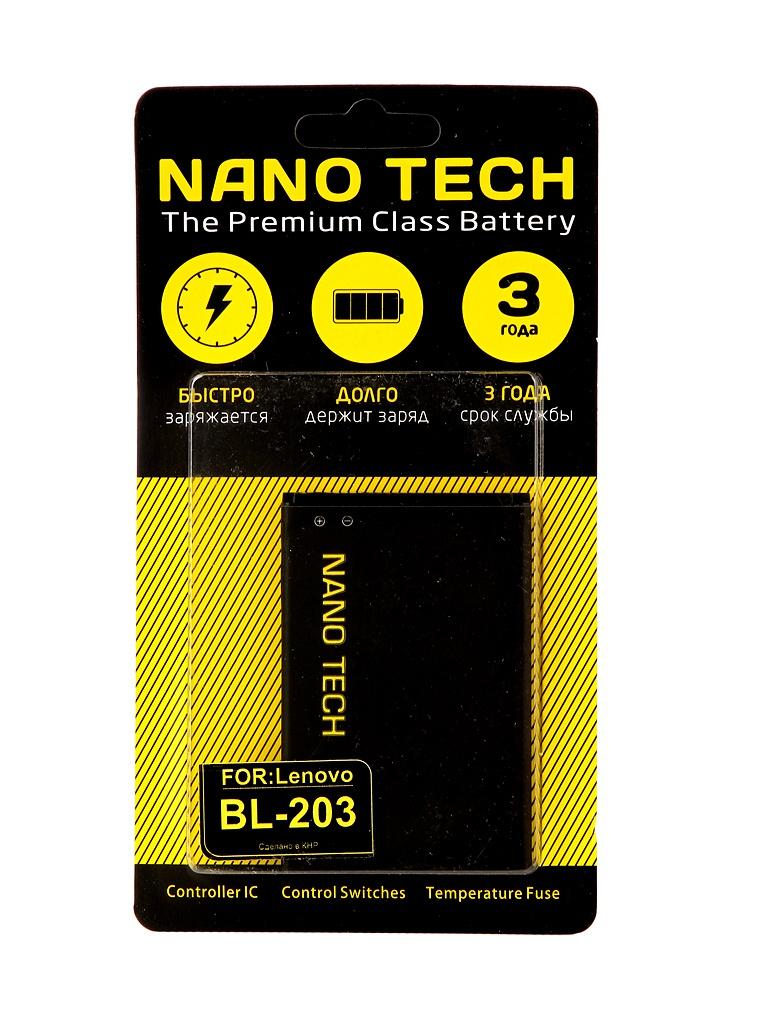 Аккумулятор Nano Tech (схожий с BL 203) 1500mAh для Lenovo A308t/A308/A369i/A208/A269/A300/A316/A318