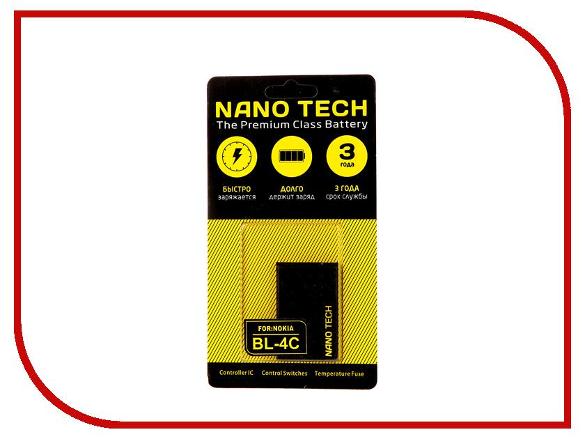 Аккумулятор Nano Tech (Аналог BL-4C) 890mAh для Nokia 6100/6300 аккумулятор nano tech аналог bl 5u 1000 mah для nokia 3120 arte e66 5530
