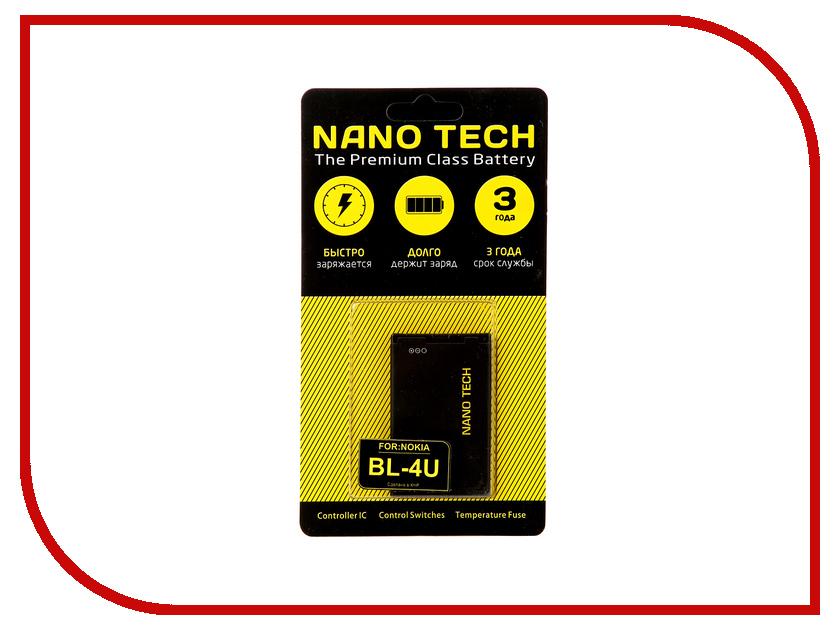 Аккумулятор Nano Tech (Аналог BL-4U) 1000mAh для Nokia 3120/Arte/E66/5530 аккумулятор nano tech аналог bl 5u 1000 mah для nokia 3120 arte e66 5530
