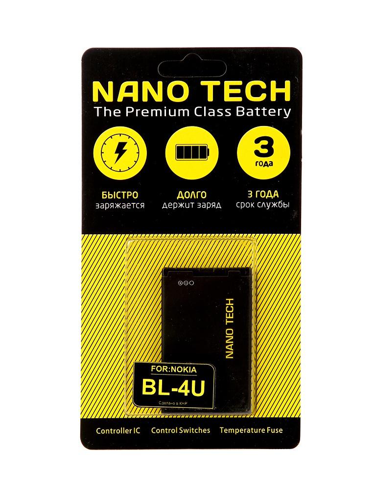 Аккумулятор Nano Tech (схожий с BL-4U) 1000mAh для Nokia 3120/Arte/E66/5530 аккумулятор nano tech аналог ab603443cu 1000mah для samsung galaxy s5230 star g800 l870