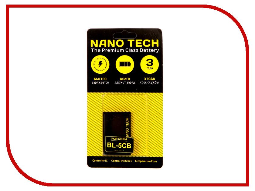 Аккумулятор Nano Tech (Аналог BL-5CB) 800mAh для Nokia 1600/2600/X2-01 аккумулятор nano tech аналог bl 5b 850 mah для nokia 6120 6020 7260