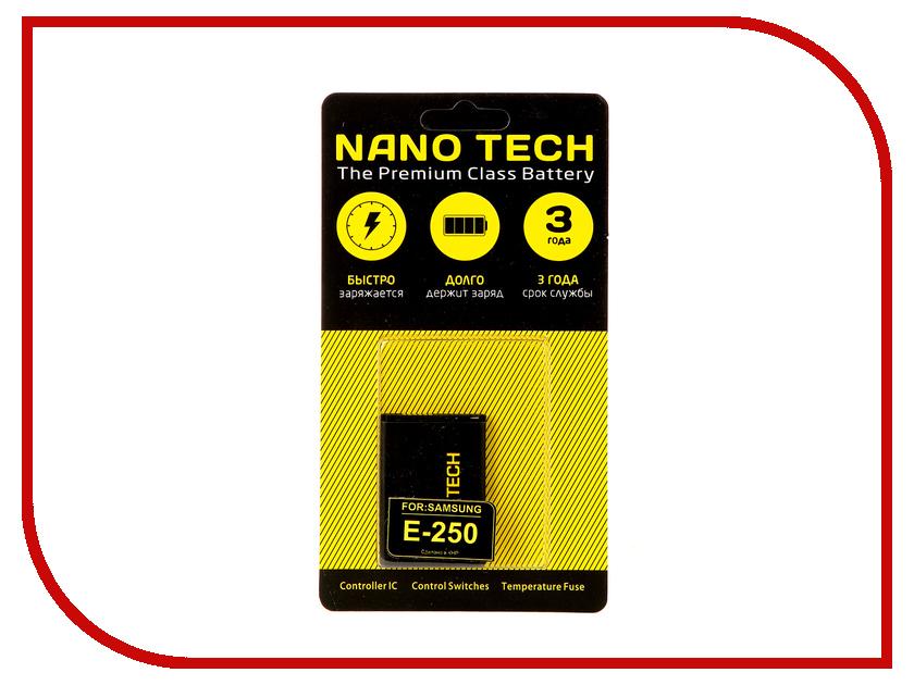 Аккумулятор Nano Tech (Аналог AB463446BU) 800mAh для Samsung E250/C120/E50/X200/X450 Bluetec