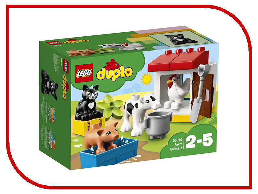Конструктор Lego Duplo Ферма: домашние животные 10870 lego duplo конструктор моя первая ферма