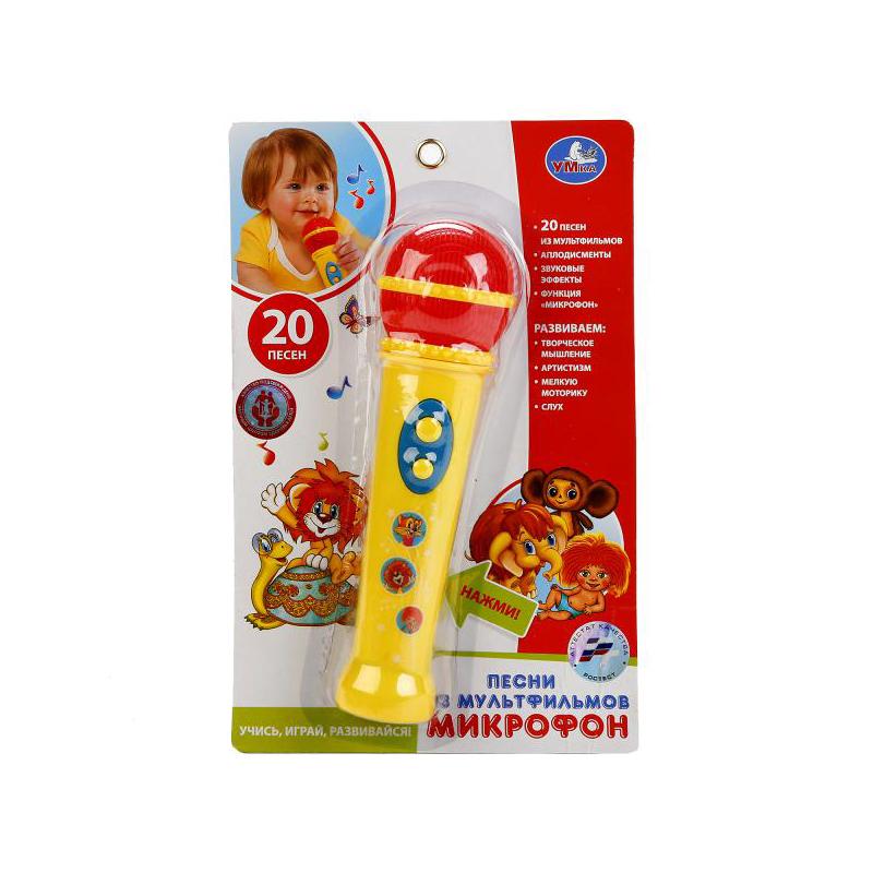 все цены на Детский музыкальный инструмент Умка Микрофон 20 песен из мультфильмов B1433764-R2 онлайн