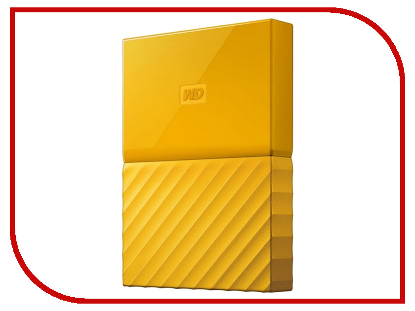 Жесткий диск Western Digital My Passport 2Tb Yellow WDBLHR0020BYL-EEUE внешний жесткий диск western digital 2tb my passport white wdbuax0020bwt eeue