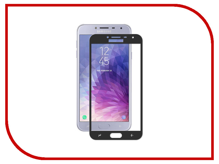 Аксессуар Закаленное стекло для Samsung Galaxy J4 2018 DF Full Screen sColor-50 Black смартфон samsung samsung galaxy j4 2018 black