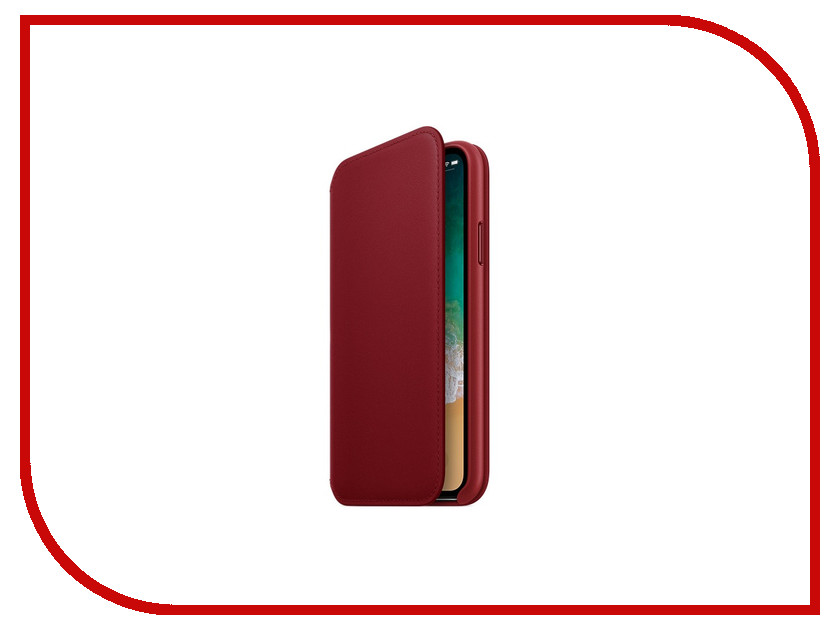 Фото - Аксессуар Чехол Apple iPhone X Krutoff Leather Folio Red 10825 аксессуар чехол apple iphone x krutoff leather folio pink 10834