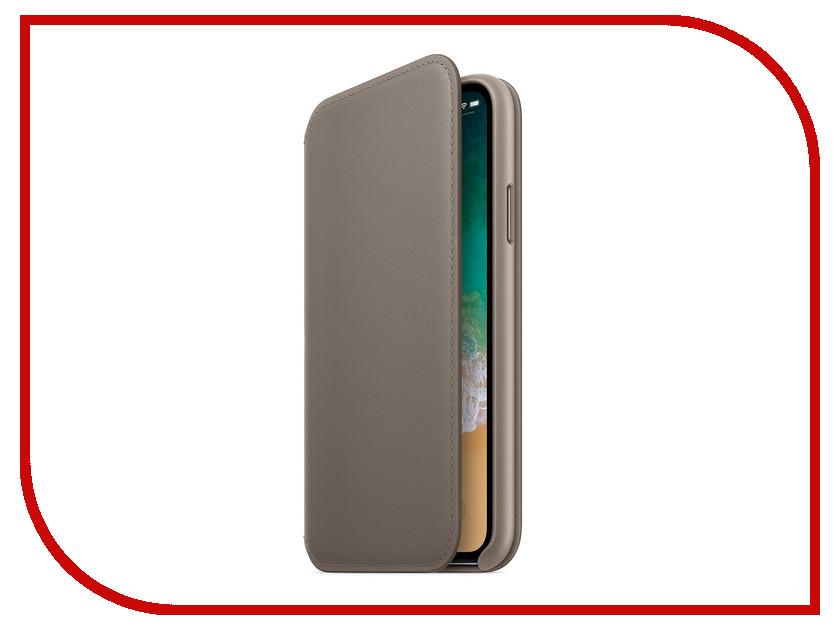 Фото - Аксессуар Чехол Apple iPhone X Krutoff Leather Folio Charcoal Gray 10828 аксессуар чехол apple iphone x krutoff leather folio taupe 10831