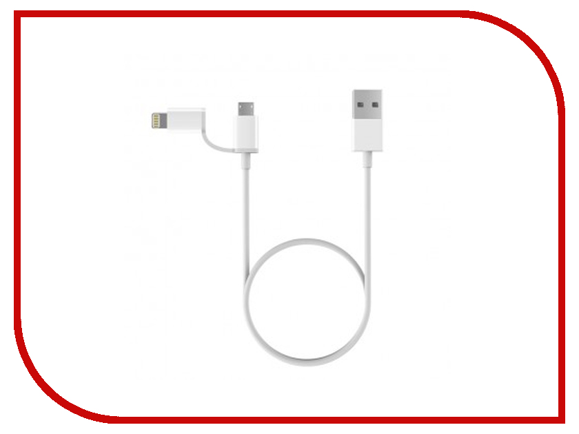 Аксессуар Xiaomi ZMI AL801 2 in 1 USB Lighting-Micro 100cm White usb male to micro usb male charging data cable w colorful flashing light white 100cm