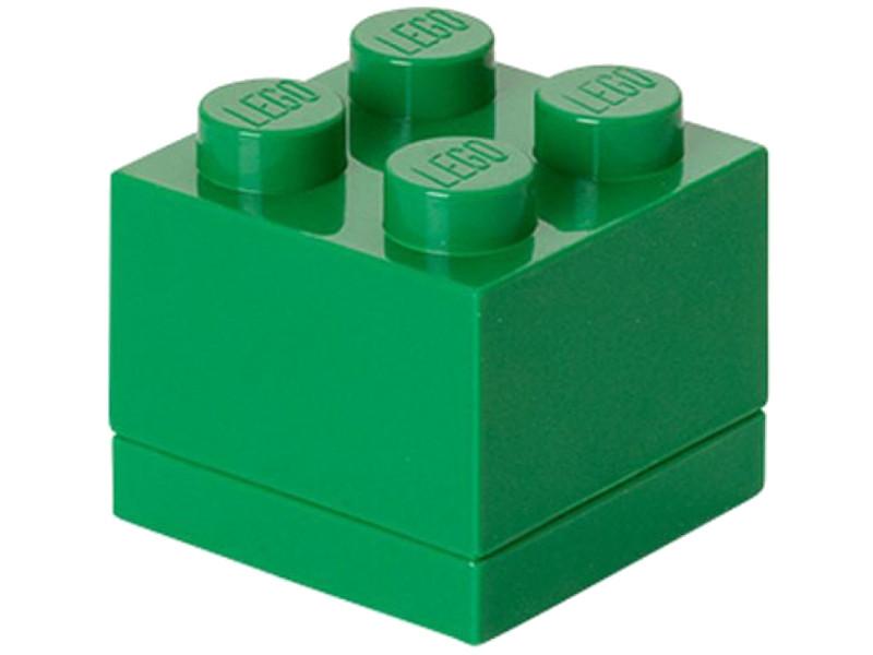 Пластиковый мини-кубик для хранения деталей Lego 4 Green 40111734 смеситель kludi для ванны