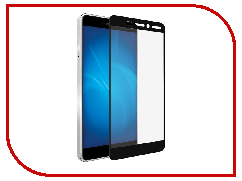 Аксессуар Защитное стекло Nokia 6 2018 Gecko 2D Fullscreen Black ZS26-GNOK6-(2018)-2D-BL
