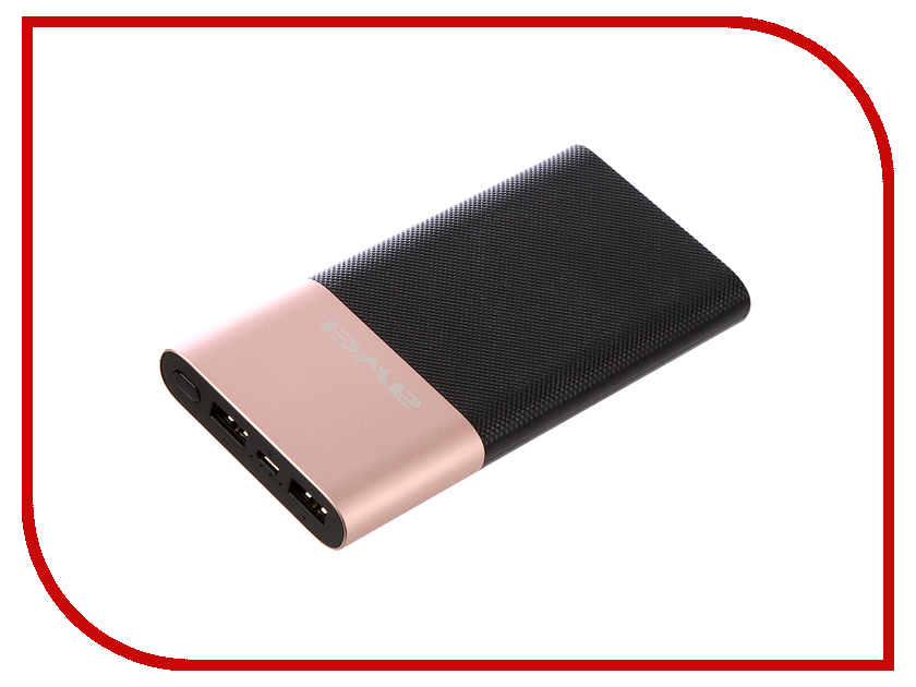 Аккумулятор Awei P53K LCD 10000 mAh Black-Rose Gold