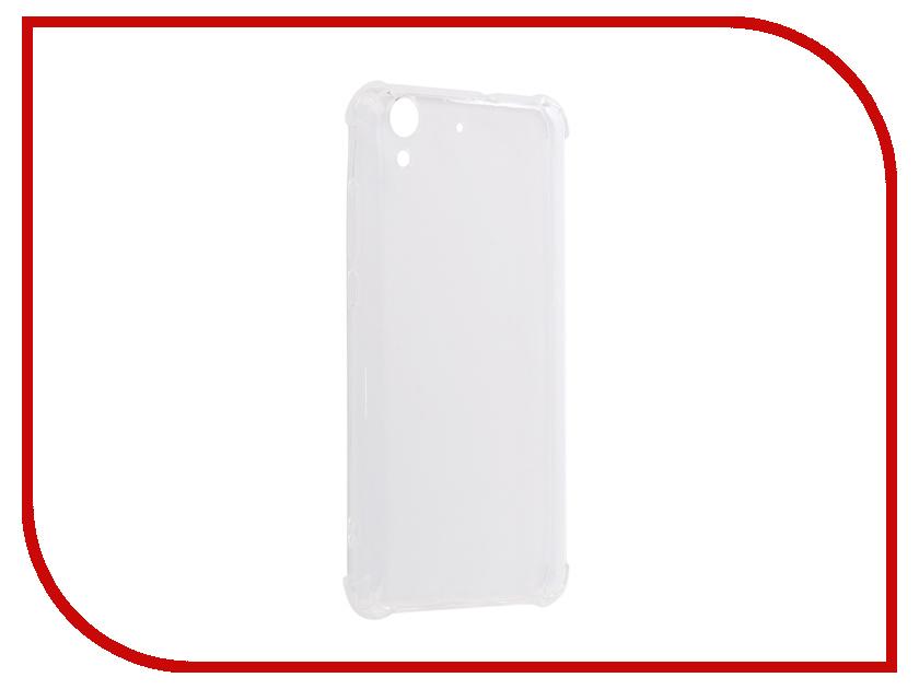 Аксессуар Чехол для Huawei Honor Y6 II Gecko Silicone Glowing White S-G-SV-HUAWY6-II-WH сотовый телефон huawei y6 ii white