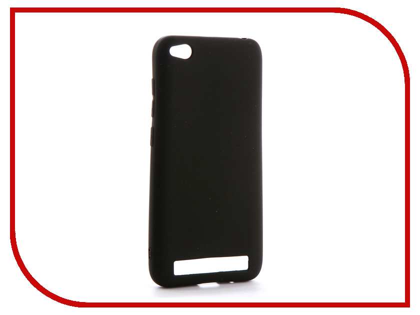 Аксессуар Чехол Xiaomi Redmi 5A Gecko Silicone Black S-GESKA-XR5A-BL аксессуар чехол xiaomi redmi pro with love moscow silicone peace 6075