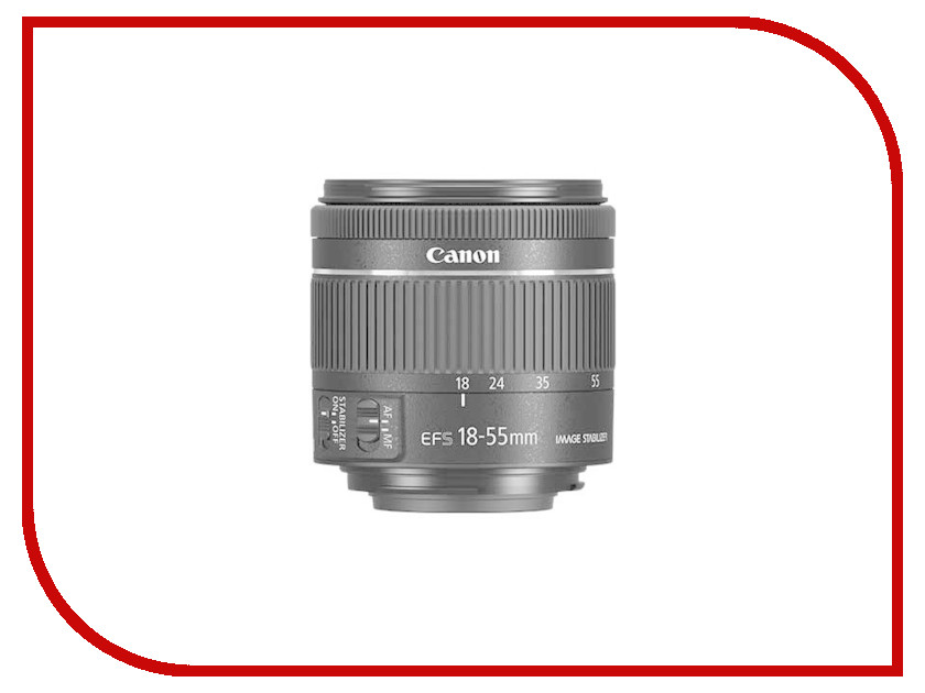 Объектив Canon EF-S 18-55 mm F/4-5.6 IS STM Black объектив canon ef s is stm 1620c005 18 55мм f 4 5 6 черный