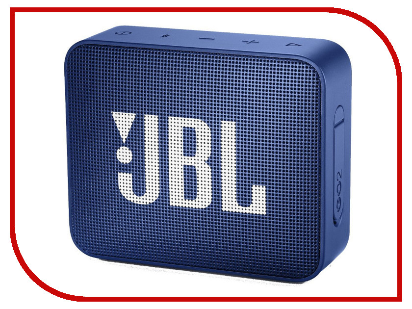 Колонка JBL GO 2 Deep Sea Blue колонка jbl go 2 coral orange