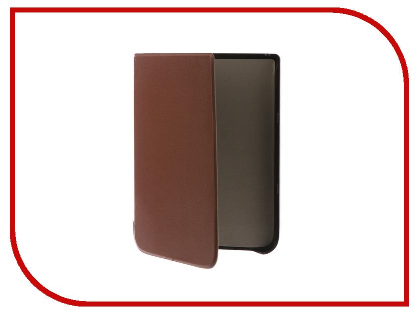 Аксессуар Чехол Pocketbook 740 TehnoRim Slim Brown TR-PB740-SL01BR аксессуар чехол for pocketbook 626 tehnorim origami black tr pb626 or01bl