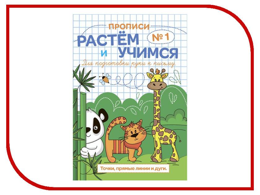 Обучающая книга Феникс+ Прописи Растем и учимся Точка, прямые линии и дуги 47313