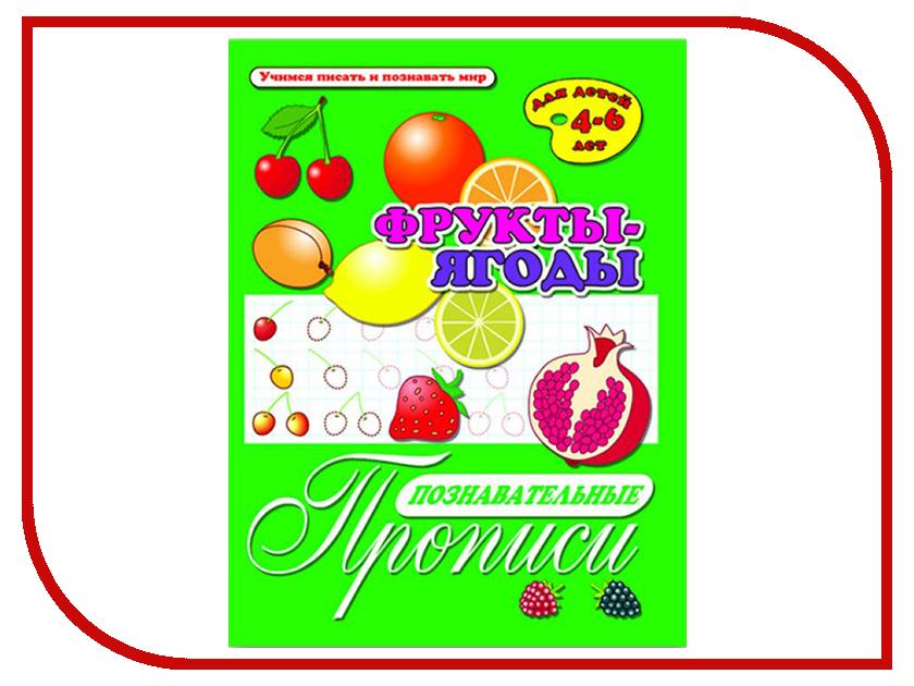 Обучающая книга Феникс+ Брошюра Познавательные прописи Фрукты-ягоды 33979 футболка print bar фрукты и ягоды