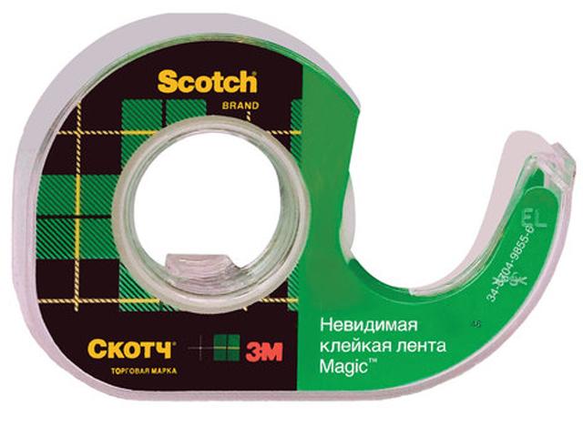 Клейкая лента 3M Scotch Magic 19mm x 7.5m на диспенсере Невидимая 70005076974