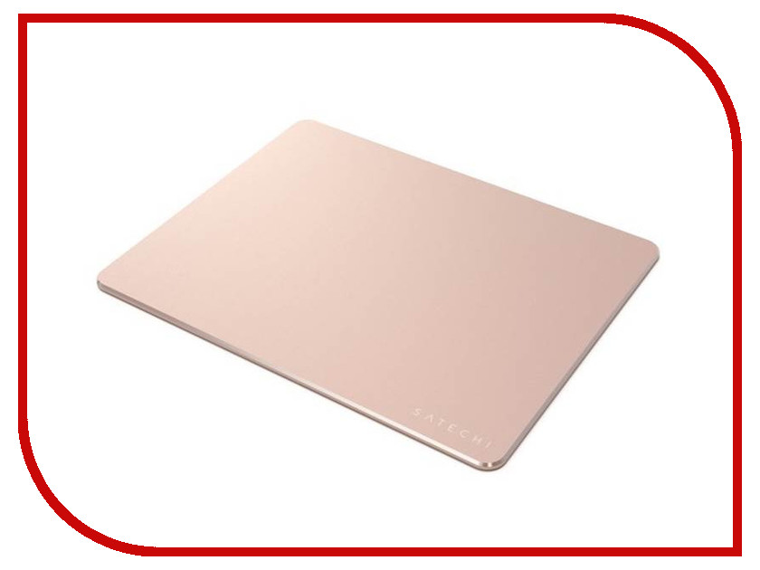 Коврик Satechi Aluminum Mouse Pad Rose Gold ST-AMPADR зарядное устройство satechi wireless charging pad для iphone 8 8 plus x rose gold st wcpr